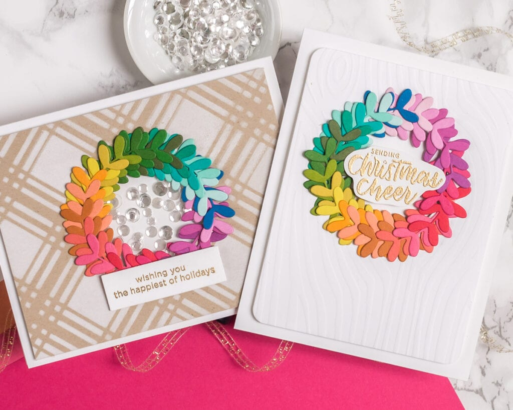 Tips for Making Holiday Wreath Cards - Part 1 - My Fresh Perspective
