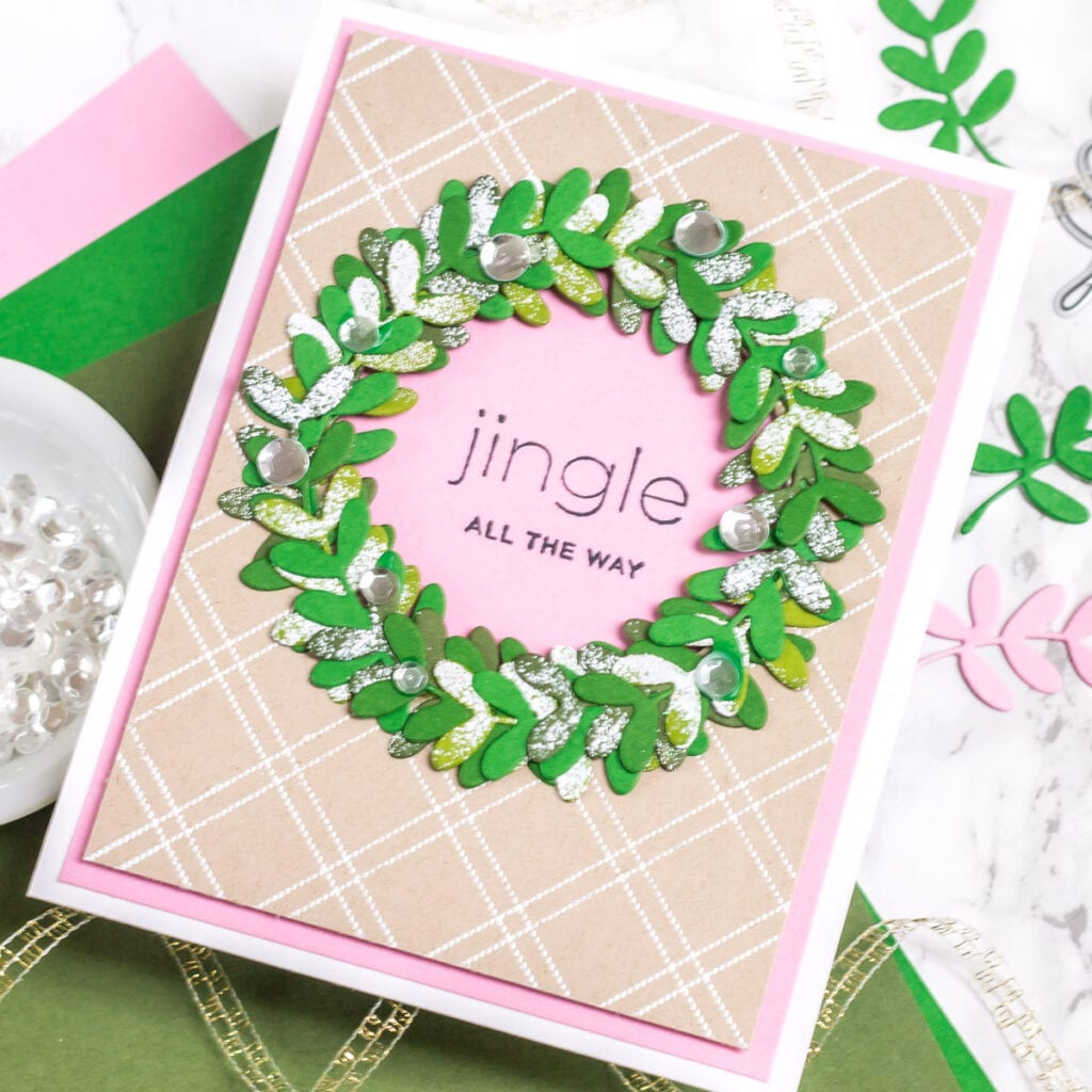 Tips for Making Holiday Wreath Cards - Part 2 - My Fresh Perspective