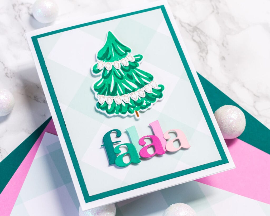 Simple Falala Card featuring The Stamp Market and Pinkfresh Studio