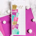 Glitter and Gift Boxes Slimline Card - featuring Pinkfresh Studio