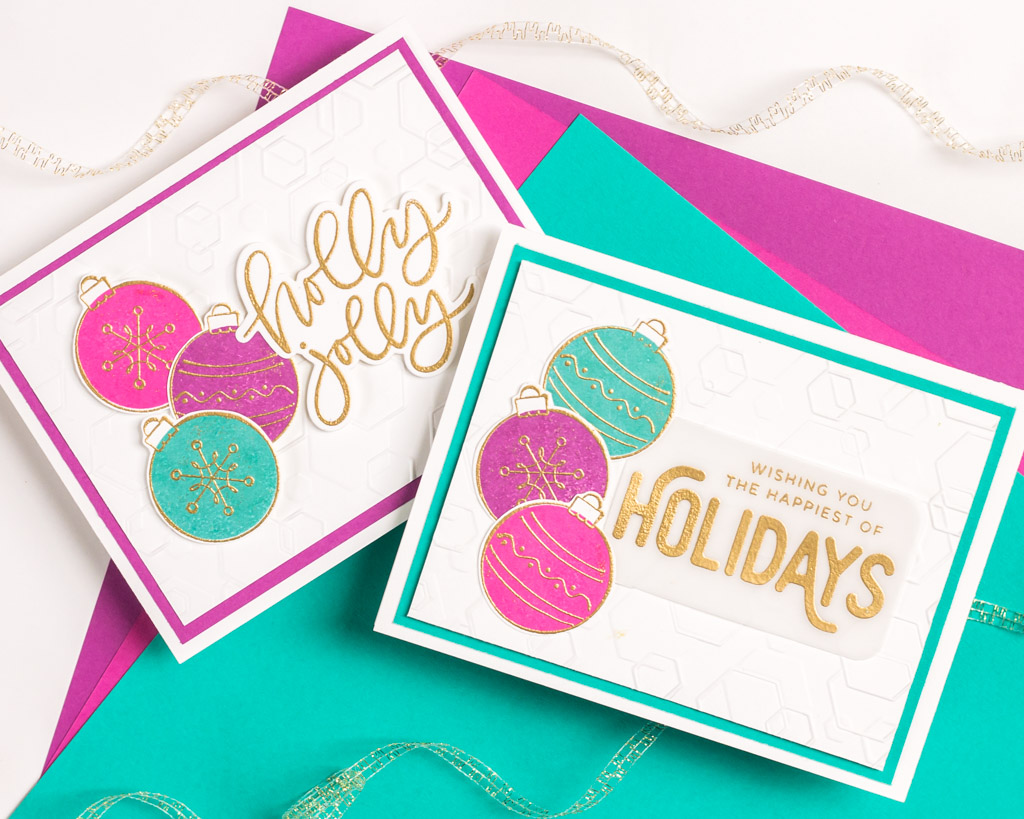 Hexagon Holidays - featuring Simon Says Stamp Tumbling Hexagons Embossing Folder
