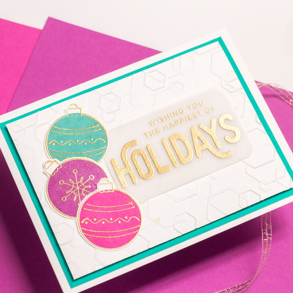 Hexagon Holidays - featuring Simon Says Stamp Tumbling Hexagons Embossing Folder
