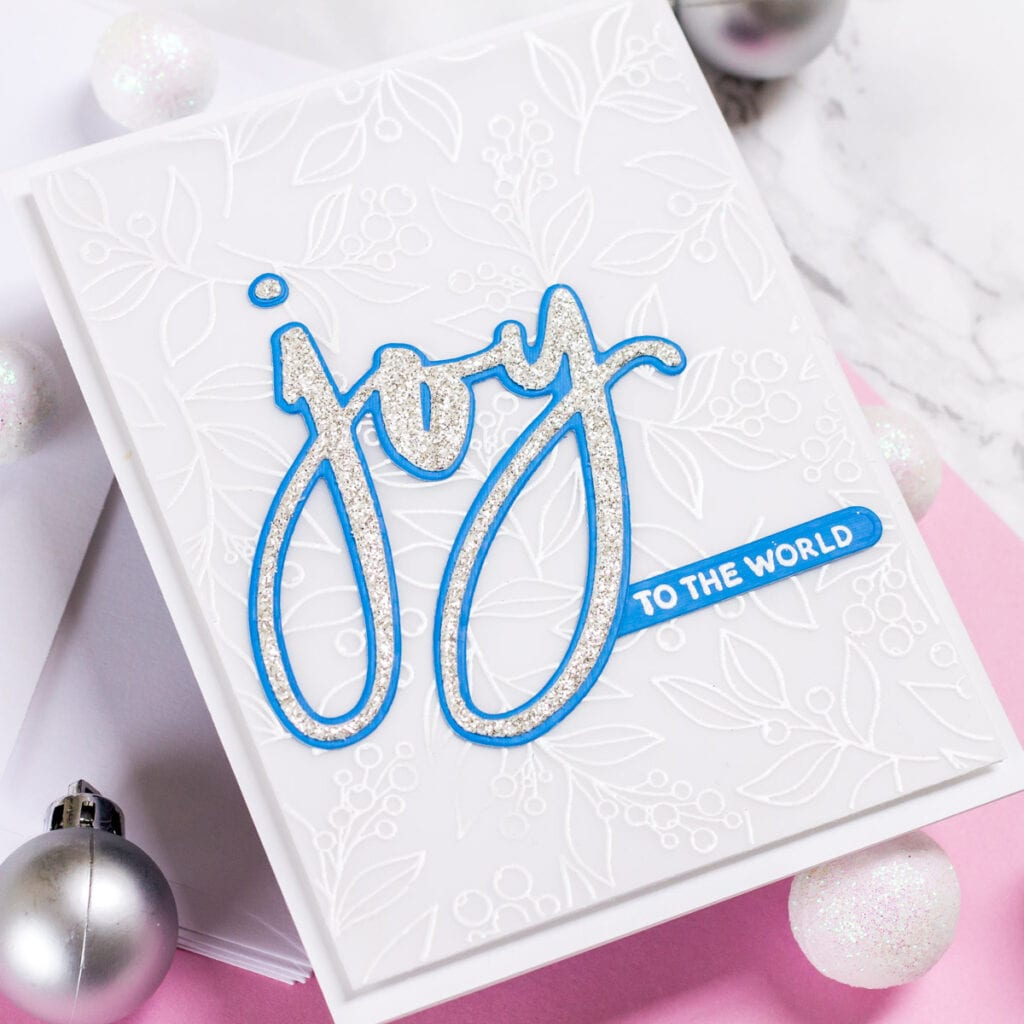 Joy, Sparkles, and Heat Embossing on Vellum - My Fresh Perspective