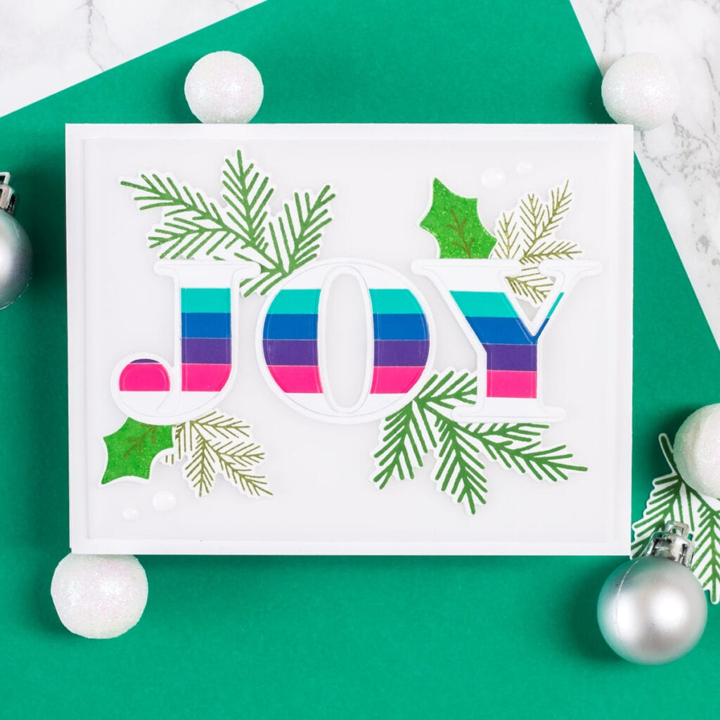 Jumbo Joy Cards - featuring The Stamp Market Jumbo Joy Dies and Pointsettia Stamp and Die Set