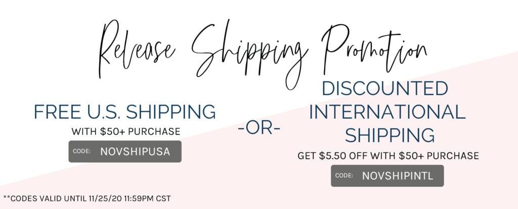 Pinkfresh Studio Shipping Promotion