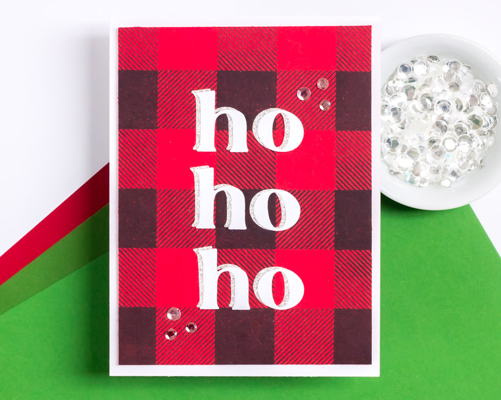 A Flannel Pajama-Inspired Holiday Card