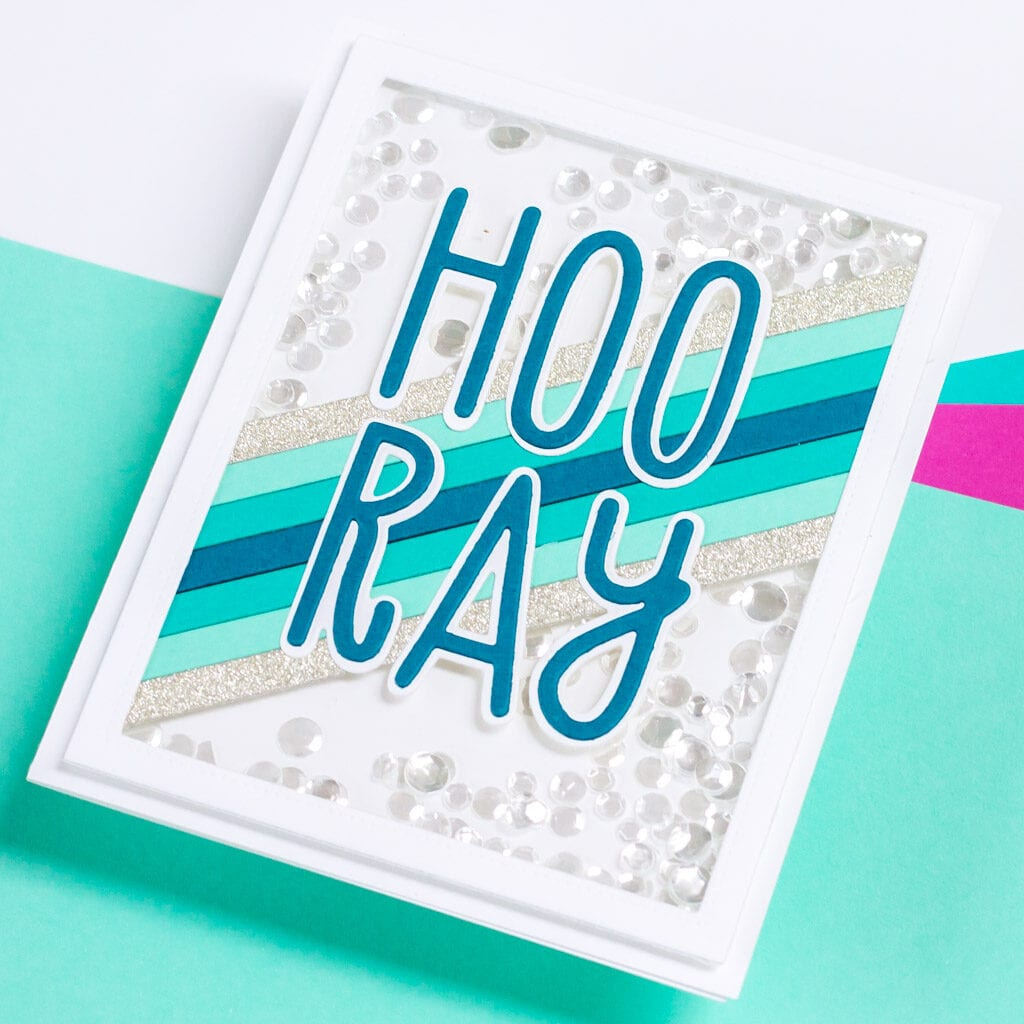 Hooray Shaker Cards featuring The Stamp Market