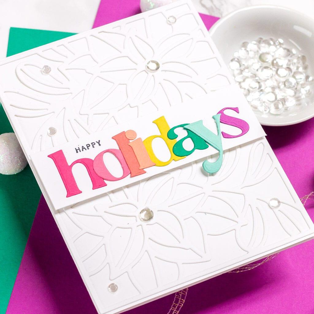 Rainbow Holidays - featuring Pinkfresh Studio Ornate Pointsettias Die
