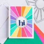 A Glittery Sunburst Greeting - featuring Pinkfresh Studio