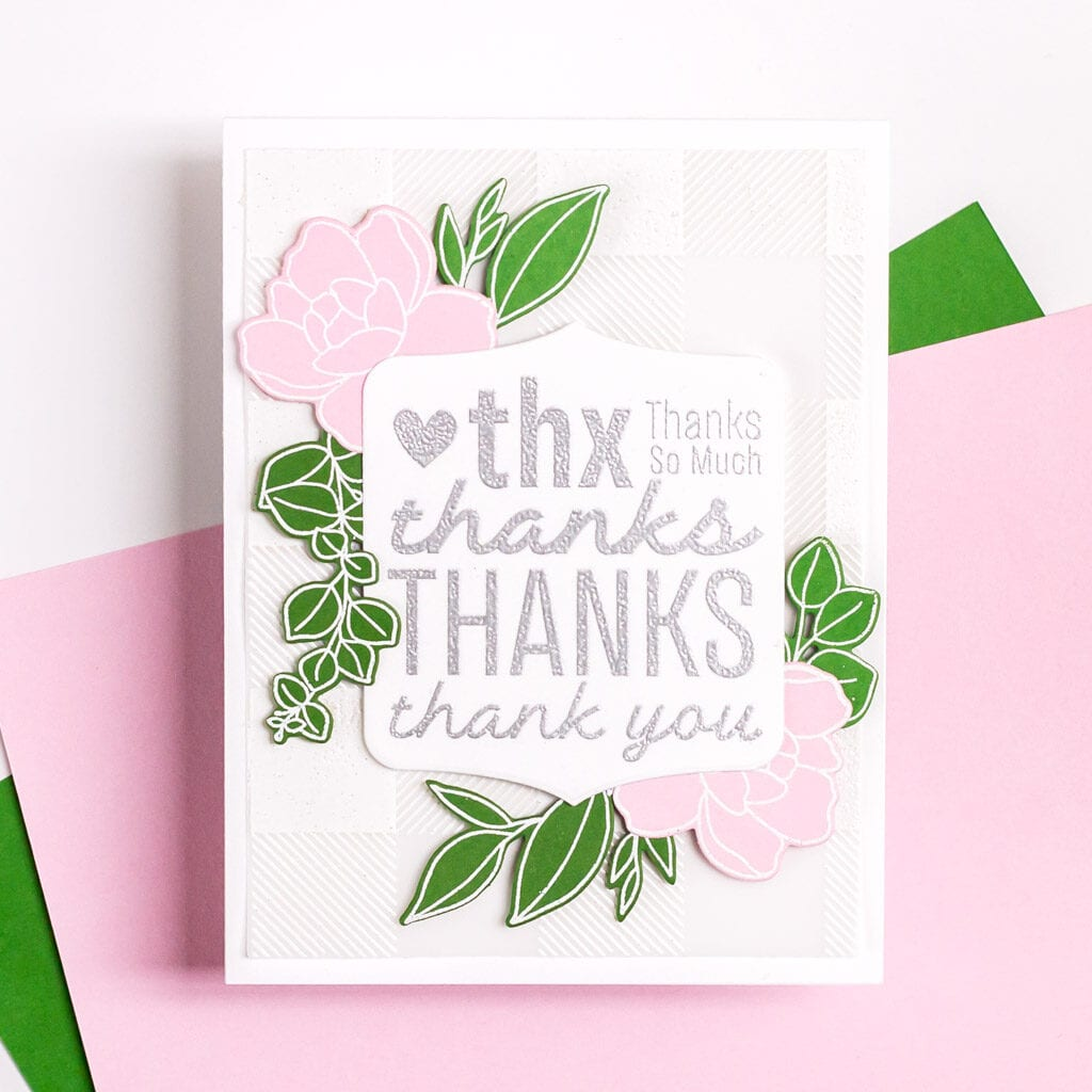 Feminine Florals and Lots of Thanks - featuring The Stamp Market