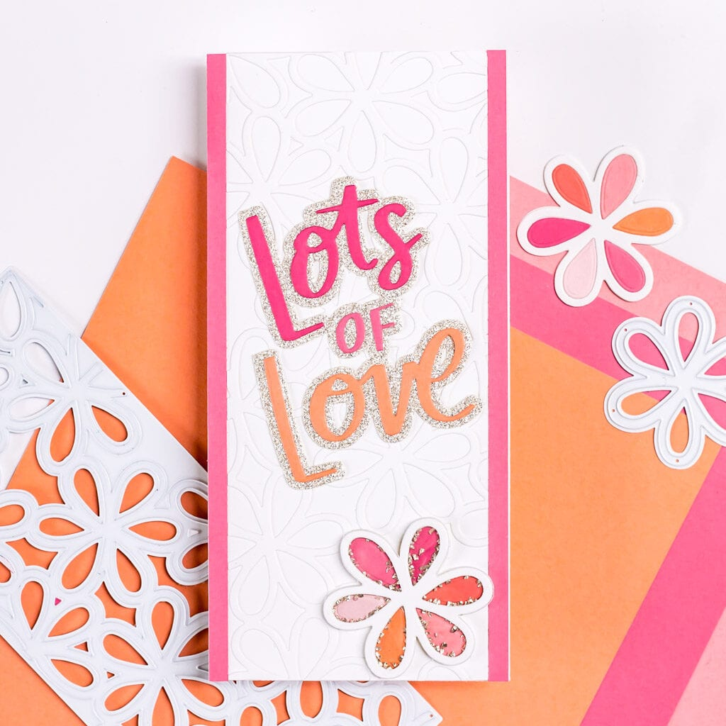 Lots of Love Valentine's Day Shaker Card - featuring The Stamp Market