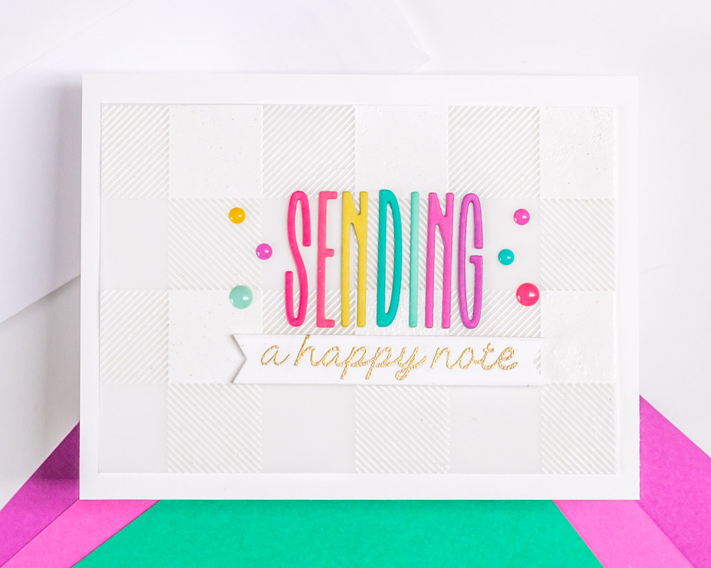 Sending a Happy Note - featuring The Stamp Market