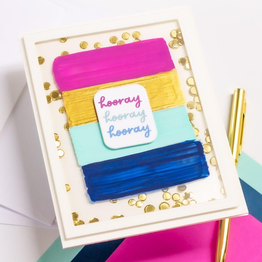 Easy Acrylic Brushstroke Cards