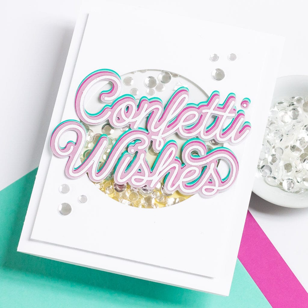 The Stamp Market Confetti Wishes Shaker Card