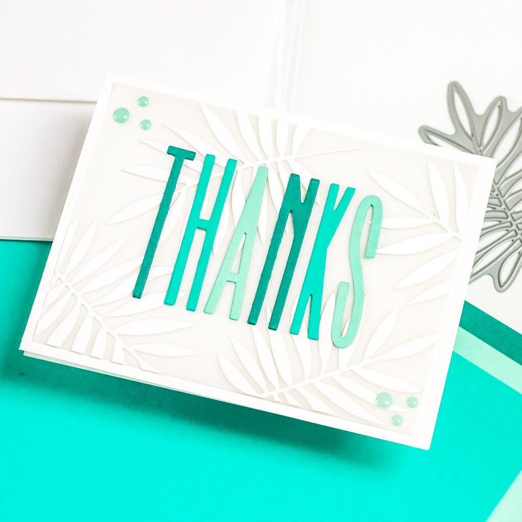 Palm Leaf Thank You Card - featuring The Stamp Market
