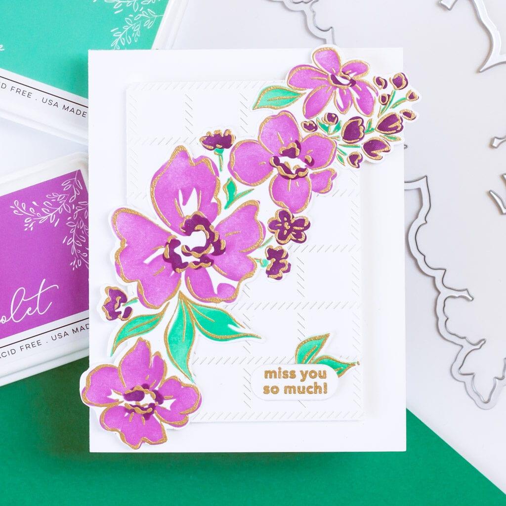Pinkfresh Studio Floral Notes layering stencil