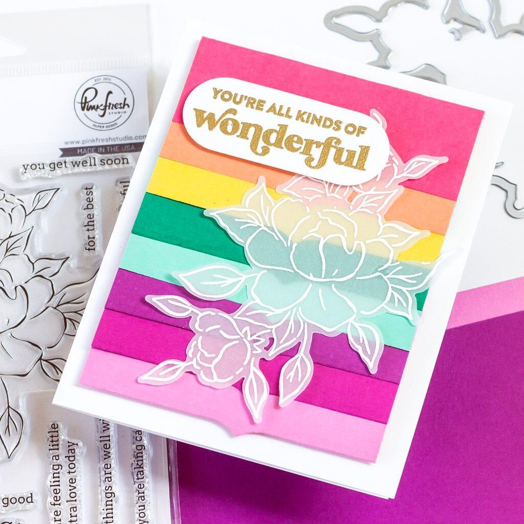 Rainbow Floral Everyday Card - featuring Pinkfresh Studio