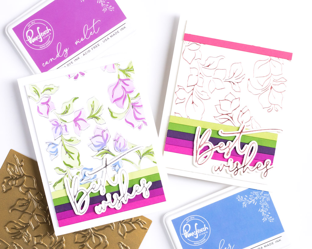 Pinkfresh Studio Bougainvillea Hot Foil Cards