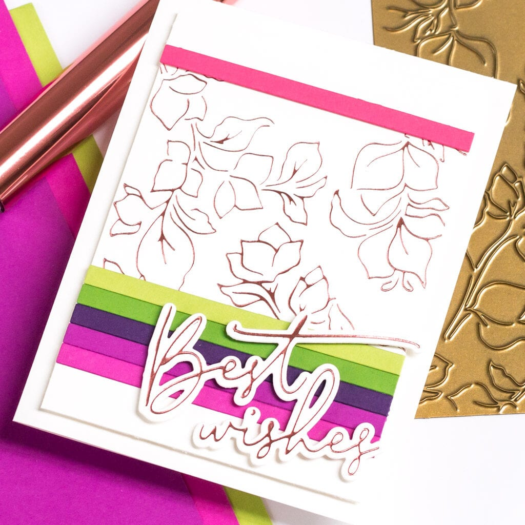 Pinkfresh Studio Bougainvillea Hot Foil Cards