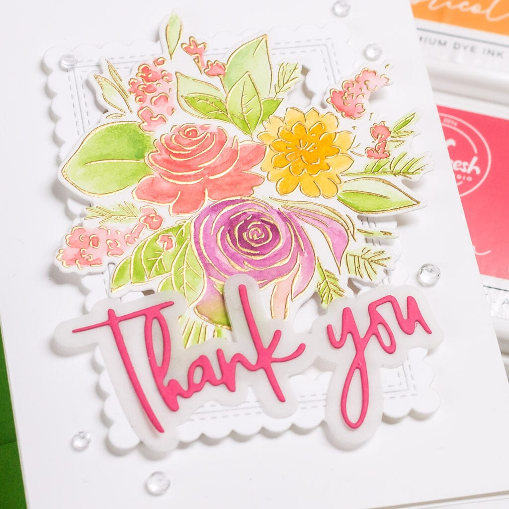 Pinkfresh Studio Joyful Bouquet Watercolor Card