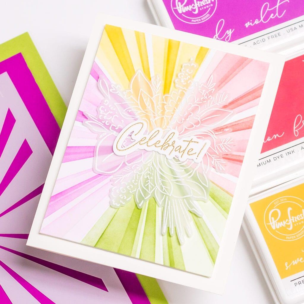 Pinkfresh Studio Joyful Bouquet Stamp Set