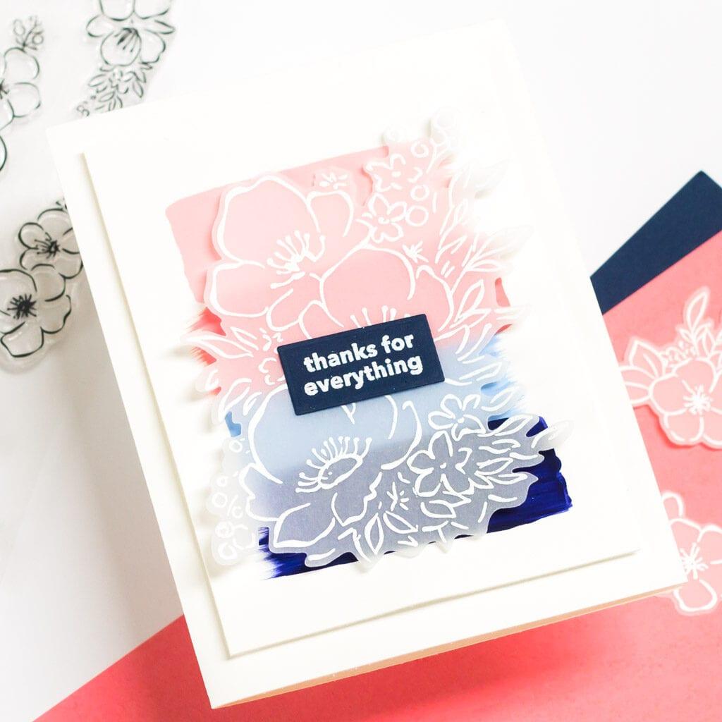 Thanks for Everything Acrylic Brushstroke Card featuring Pinkfresh Studio Anemone Magic