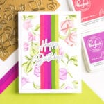 Pinkfresh Studio Bougainvillea Hot Foil and Stencil Cards