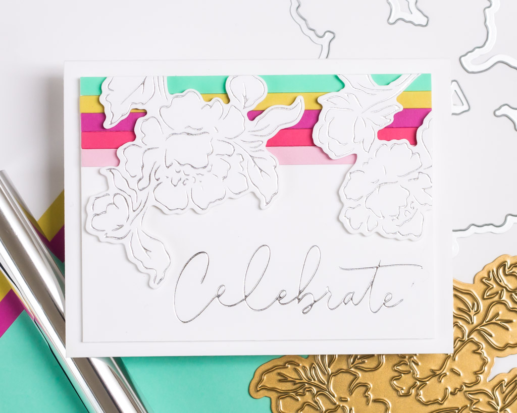 Joyful Peonies Hot Foil Card