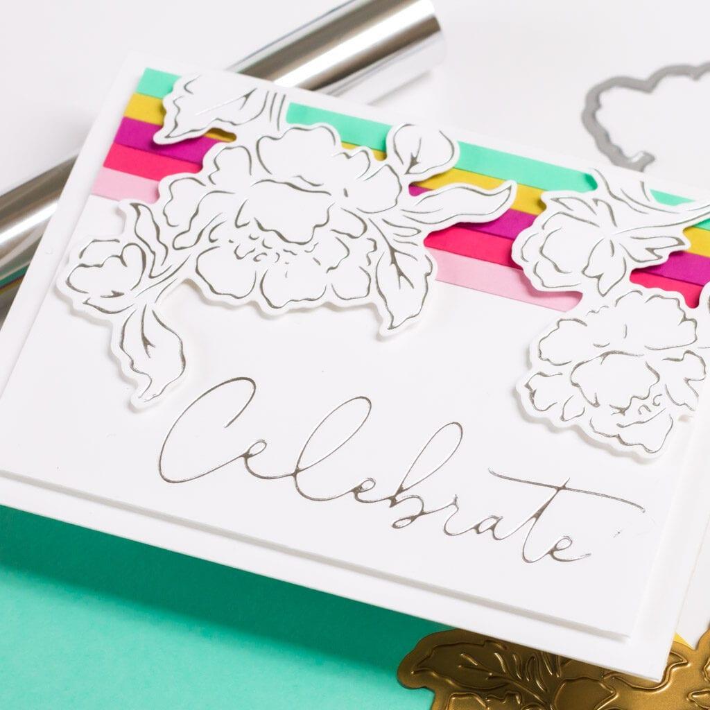 Joyful Peonies Hot Foil Card