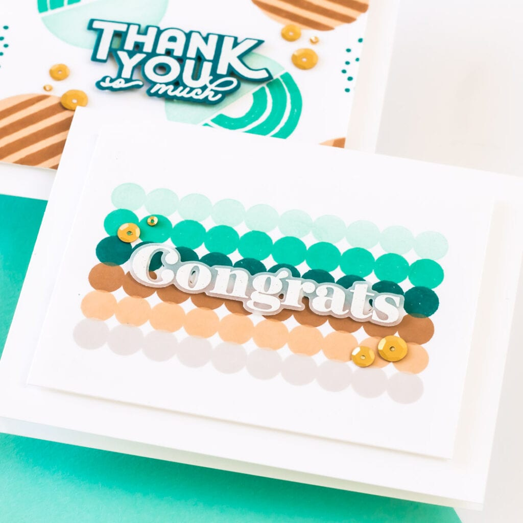 Circles & Such Everyday Cards - featuring The Stamp Market and Pigment Craft Co
