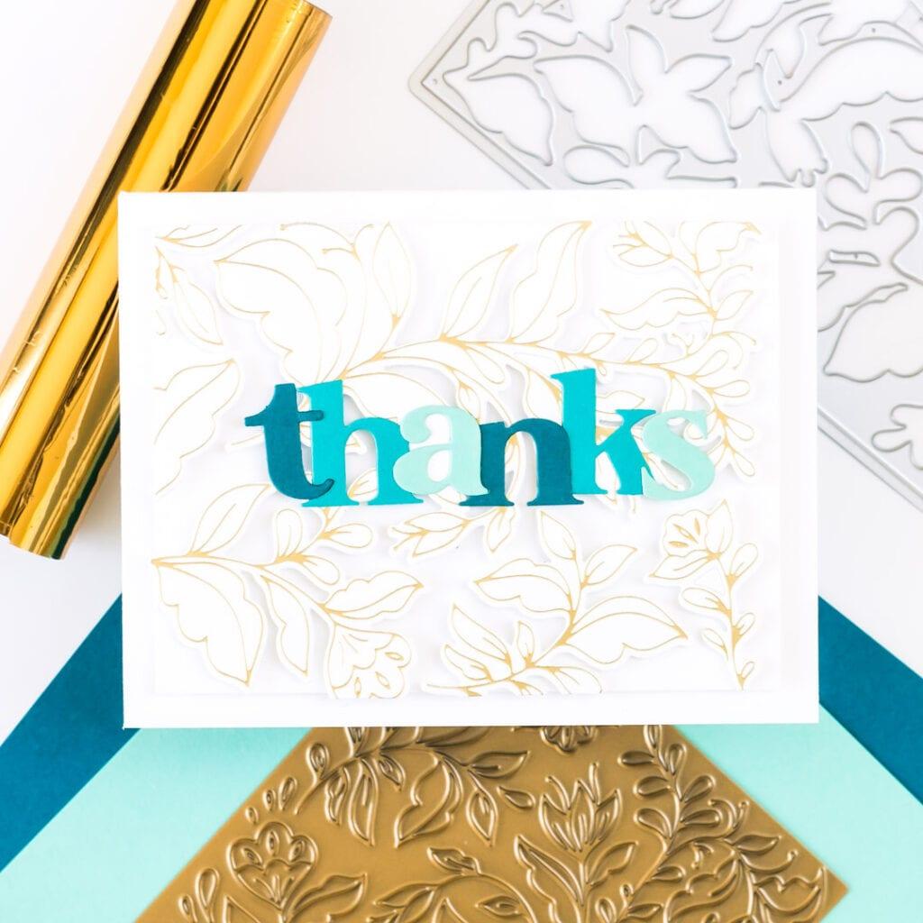 Folk Garden Hot Foil Card - featuring Pinkfresh Studio