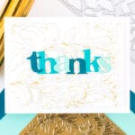 Pinkfresh Studio Folk Garden Hot Foil Card