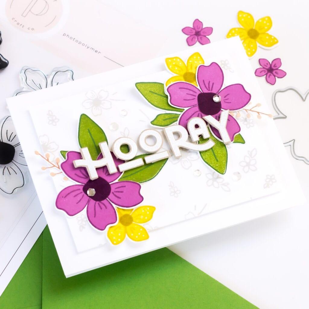 Pigment Spring Florals, 2 Ways