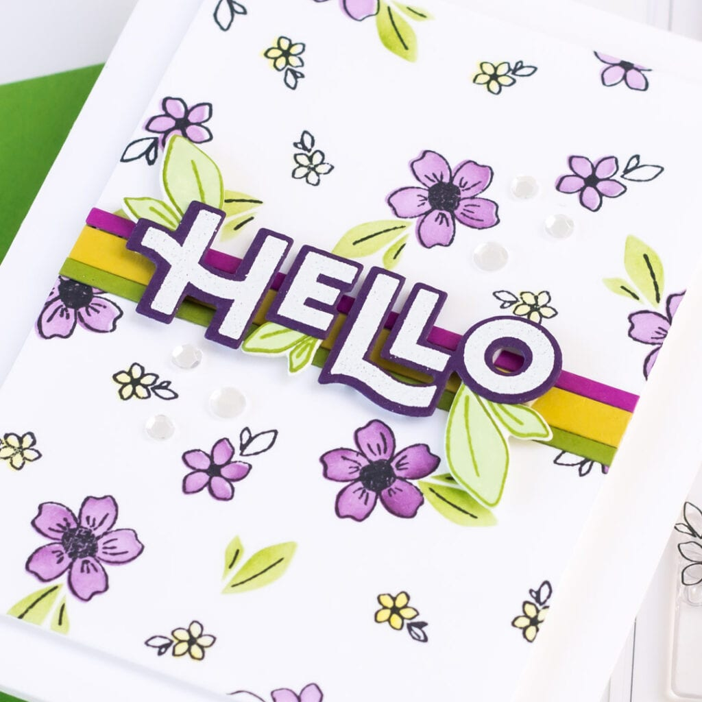 Pigment Spring Floral Handmade Card