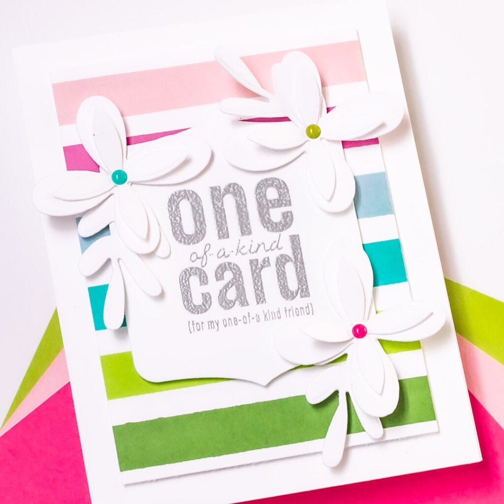 Everyday Modern Floral Cards - featuring The Stamp Market Florally Fun Dies