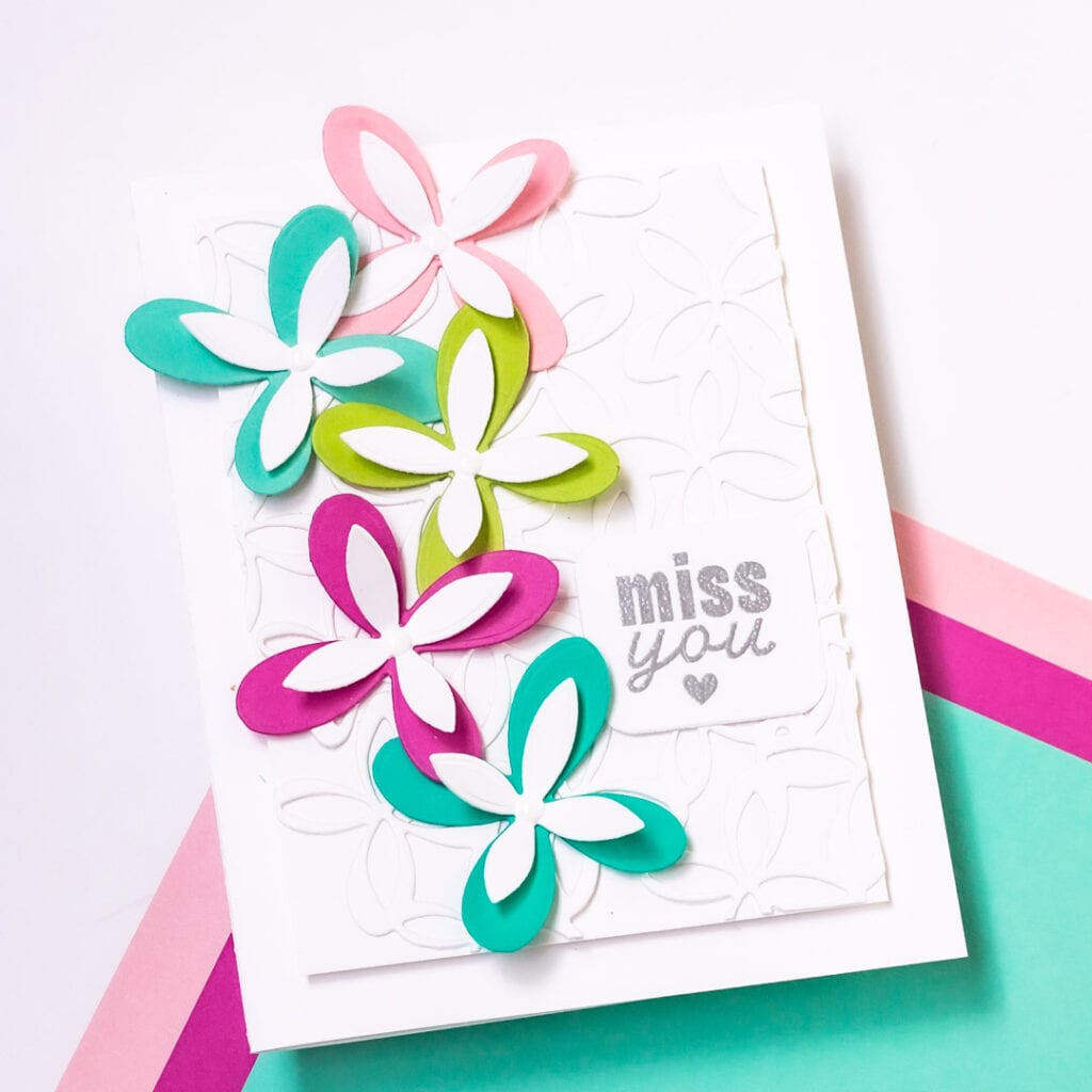 Everyday Modern Floral Cards - featuring The Stamp Market Flowery Cover Die and Lots of Little Notes Stamp Set