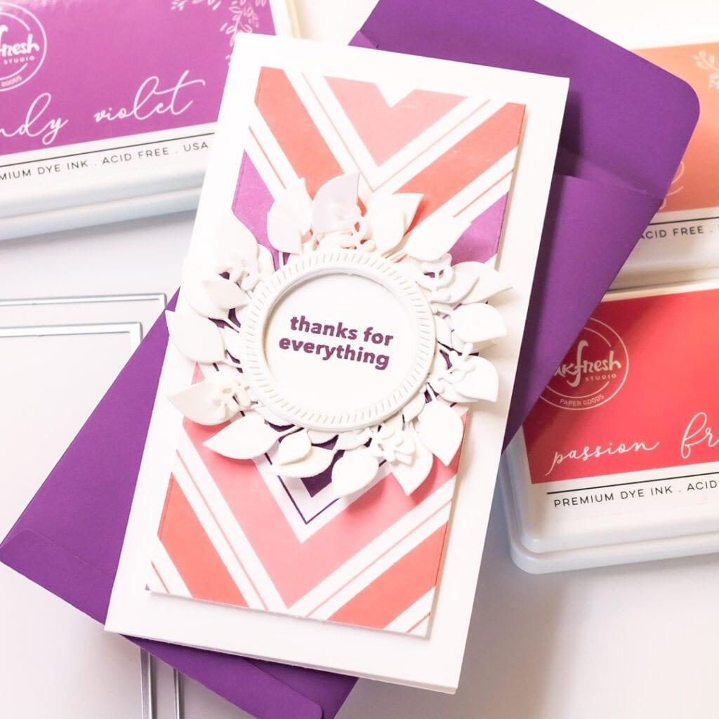 Nested Chevron Mini Slimline Cards - featuring Pinkfresh Studio