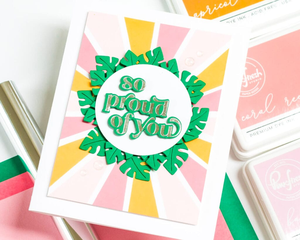 So Proud of You - Garden Wreath Die Set - Pinkfresh Studio