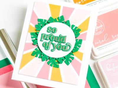 So Proud of You - Garden Wreath Die Set - Pinkfresh Studio