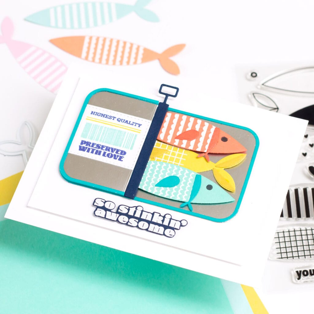 Sardine Greetings - featuring The Stamp Market