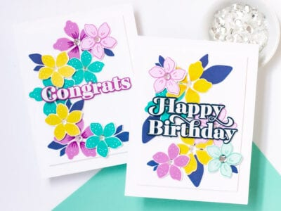 Handmade Spring Floral Greetings - Featuring Pigment Craft Co and The Stamp Market