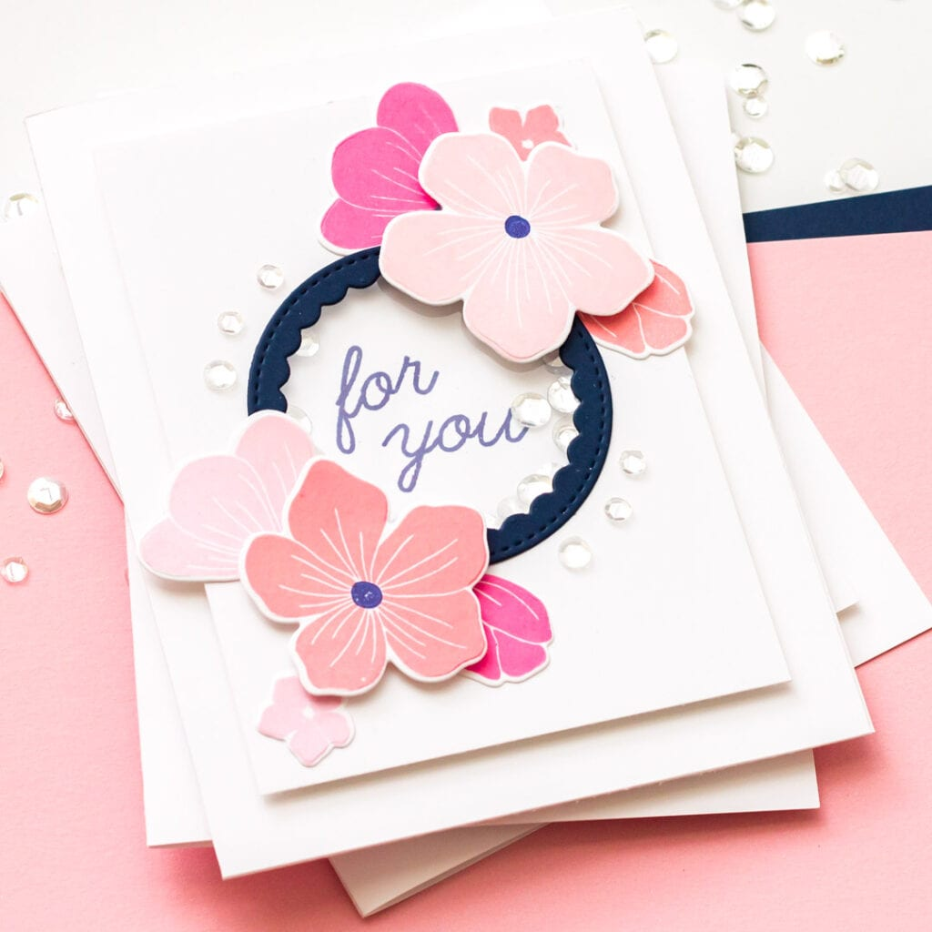 The Stamp Market Cherry Blossom Cards, 3 Ways