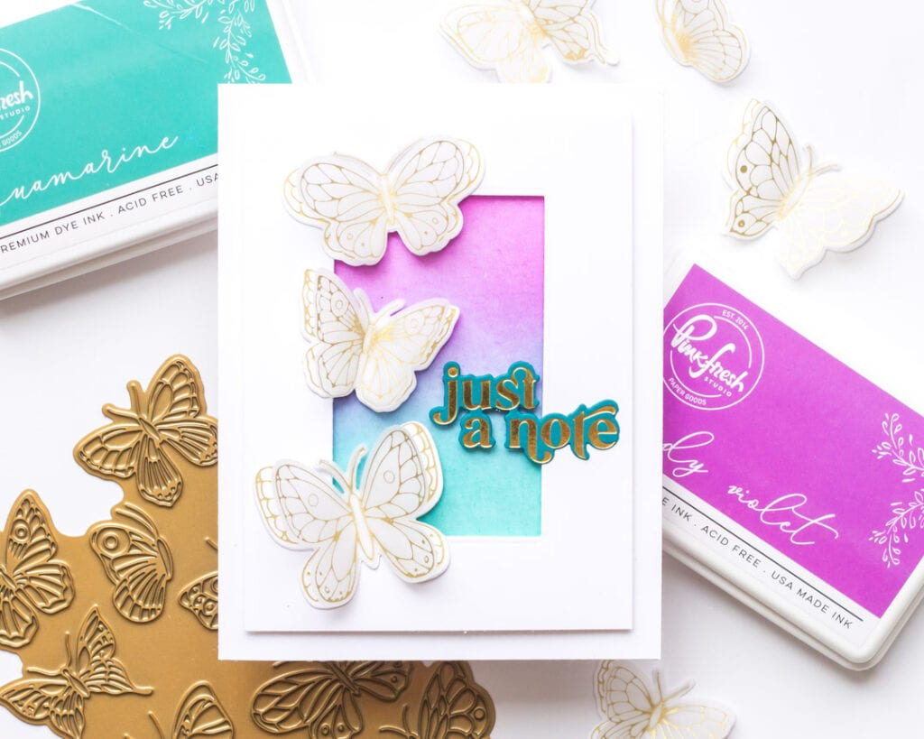 Mini Gold Foil Butterfly Cards - featuring Pinkfresh Studio