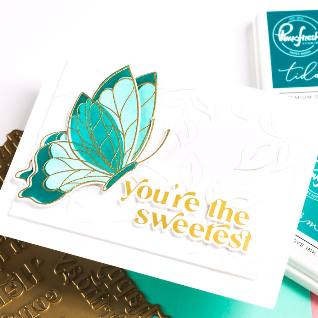 Pinkfresh Studio Butterflies - Clean and simple cards