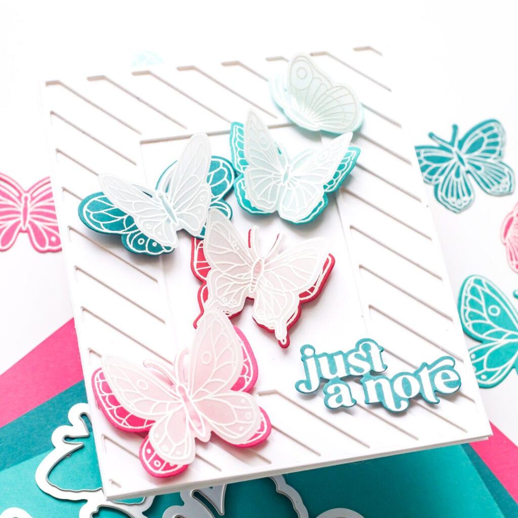 Pinkfresh Studio Small Butterflies Stamp Set and Dies
