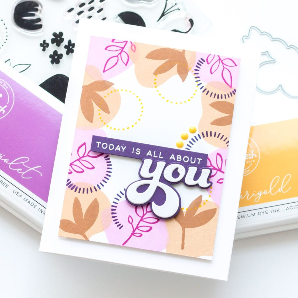Today is All About You - Featuring Essentials by Ellen Organic Elements Stamp Set