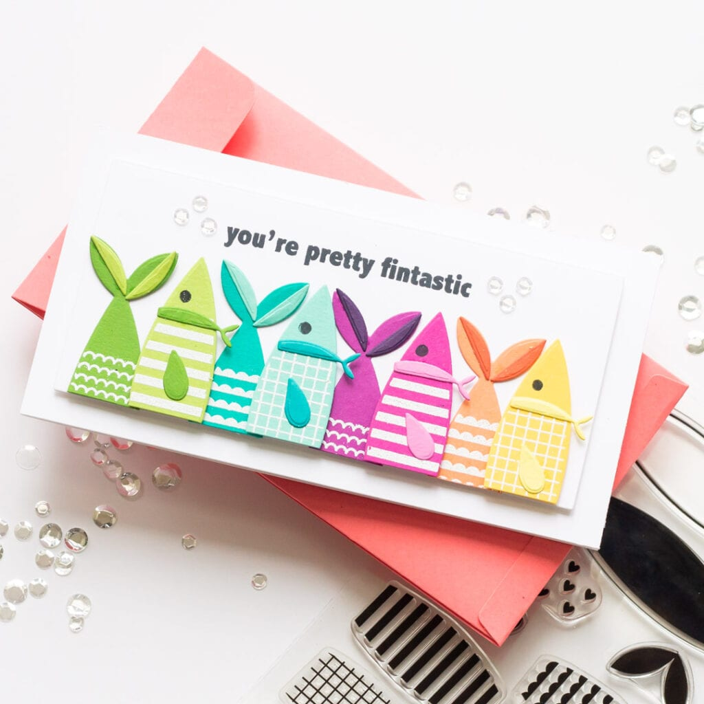 You're Fintastic Mini Slimline handmade card featuring The Stamp Market