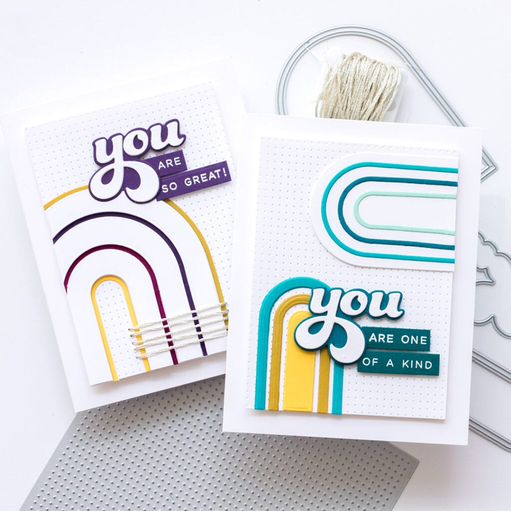 All About You Cards, 2 Ways - featuring Essentials by Ellen A2 Piercing Plate