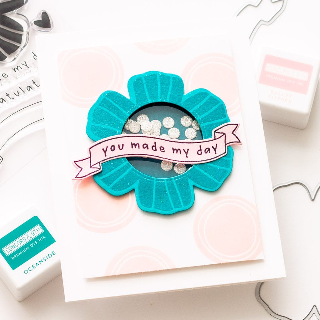 Concord and 9th Floral Shaker Shapes Shaker Card
