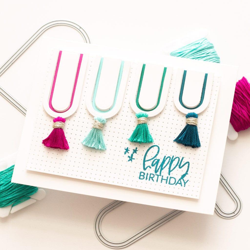 Happy Birthday Tassel Card - featuring Essentials by Ellen and Avery Elle